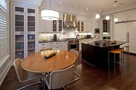 Hidden Dining Table Cabinet Ceiling Molding Design Kitchen Contemporary With Modern Barstools