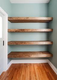 diy floating wood shelves yellow brick home wood shelf air