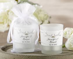 candle wedding favors personalized frosted glass votive the hunt is my wedding