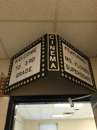 theater theme classroom door can add paper or curtain on