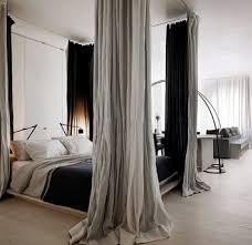 Faux Canopy Bed Drape 41 Best Nyc Studio Curtains Around Bed Images On Pinterest