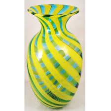 Striped Vase Glass Vases Kramoris Gallery Museum Shop