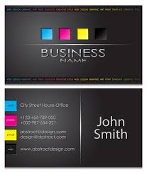 back business card modern business cards front and back template vector 05 vector