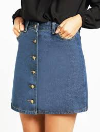 high waisted skirt denim skirt button up high waisted skirt lyfie
