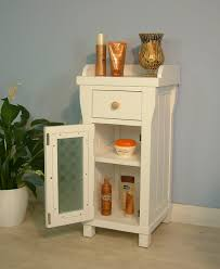 Bathroom Storage Drawers by Small Bathroom Storage Cabinet Tiered White Wooden Open Cupboard