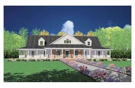 Farmhouse With Wrap Around Porch Plans Love This Ranch Style Home With Wrap Around Porch House Plans