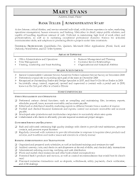 Admin Job Resume Sample by Bank Lead Teller And Administrative Staff Resume Sample Vinodomia