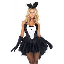 Size Burlesque Halloween Costumes Tux Tails Bunny Costume Womans Tuxedo Costume