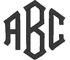 3 letter monogram 3 letter monograms