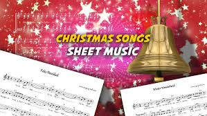 12 music scores of popular christmas hits for free download
