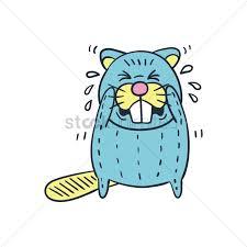cartoon beaver crying vector image 1955686 stockunlimited