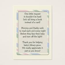 Baby Shower Instead Of A Card Bring A Book Baby Shower Book Request Insert Card Zazzle Com