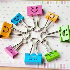 smiley bureau acheter coloré mignon joli smiley métal trombones binder