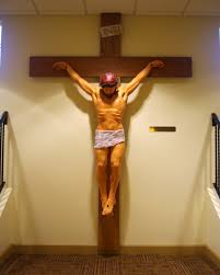 catholic crucifix file paul catholic church westerville ohio basement