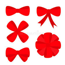 big present bow big ribbon christmas bow icon set decoration element for