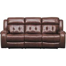 Reclining Sofas Leather Owen Leather Power Reclining Sofa With Headrest 1a 2435prs