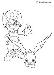 digimon gabumon coloring pages hellokids