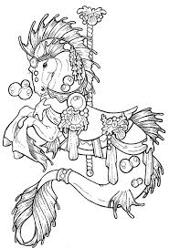 cute carousel horse coloring page coloring page and coloring