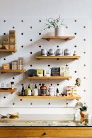 Kitchen Pegboard Ideas Giant Pegboard Diy Shelves Walls And Shelving