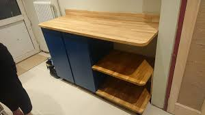 kitchen base cabinet adjustable legs our ivar worktop combo kitchen is narrow so worktop