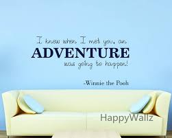 winnie pooh love quote wall sticker adventure lettering quote