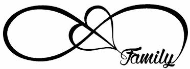 family infinity forever symbol vinyl decal car window