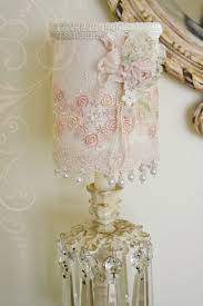 best shabby chic lamps chandeliers images on lace lamp chandelier