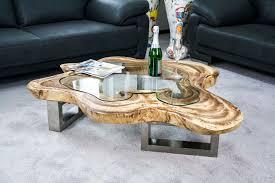 Wohnzimmertisch Zu Verkaufen Couchtisch Aus Einer Baumscheibe Mit Glasplatte Der Tischonkel