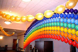 Balloon Ceiling Decor Rainbow Balloon Arch
