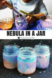 nebula in a jar craft the kindergarten connection