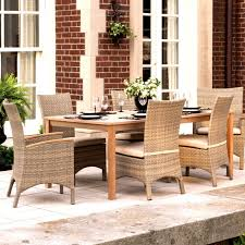 All Weather Wicker Patio Dining Sets - torbay 7 piece wicker patio dining set w 76 x 40 inch rectangular