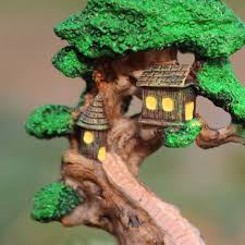 aliexpress com buy old tree house mini garden ornament miniature