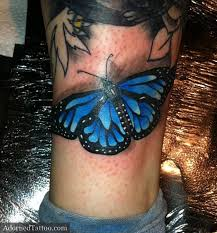 blue butterfly ankle adorned