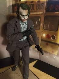 Dark Knight Joker Halloween Costume Toys The Dark Knight Bank Robber Joker Pose Session Toys Amino