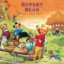rupert bear wall calendar 2017 art calendar amazon uk flame