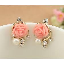 sweet earrings christmas gift pearl flower vintage earrings