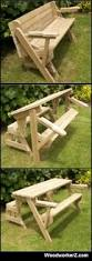 Plans For Picnic Table Bench Combo by Plans On Http Www Woodworkerz Com Folding Bench And Picnic Table