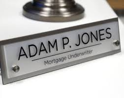 Name Plates For Office Desk Desk Name Plate Etsy