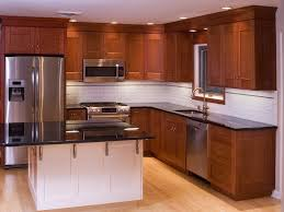 Shaker Kitchen Cabinets Kitchen Cherry Kitchen Cabinets With 40 Amazing Natural Cherry