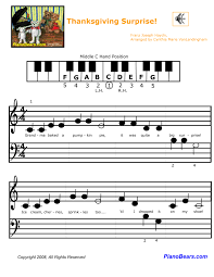 piano matters newsletter thanksgiving free sheet