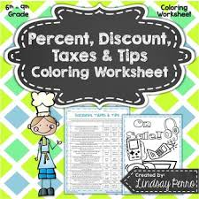 ideas collection sales tax worksheets for middle for sample