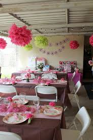 Baby Shower Table Setup by Pink And Brown Themed Party Decorations For Baby Shower Il 570xn