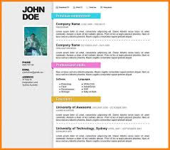 free simple resume templates download sample resume and freefree