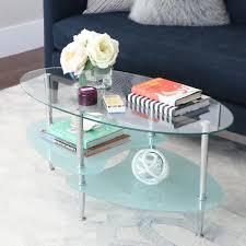 walker edison coffee table walker edison furniture company wave silver storage coffee table