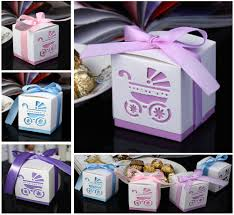 10pcs laser cut carriage gift candy bomboniere boxes wedding favor