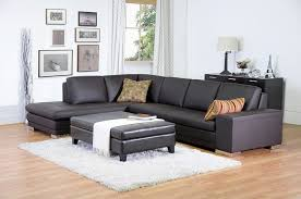 Affordable Modern Sofas Callidora Brown Leather Sectional Sofa With Left Facing Chaise