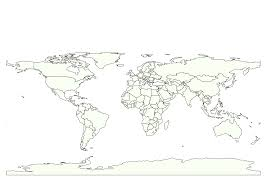 World Map To Color by Clipart One Color Simple World Map