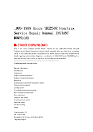 1986 1989 honda trx250 r fourtrax service repair manual instant downl u2026