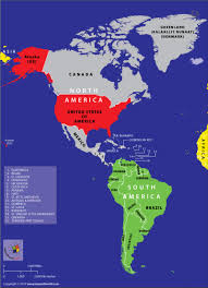 Map Americas by Is America A Country Or A Continent Answers