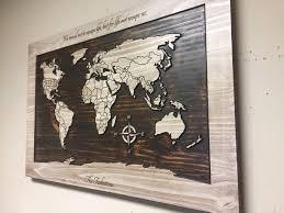 Wall Art World Map by Wood Wall Art World Map Wall Art Carved Wooden World Map
